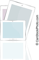 High-detailed black tablet pc on white background