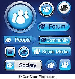 high-detailed, buttons., moderne, forum