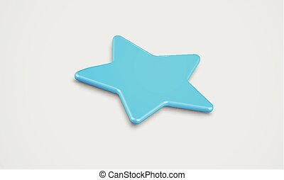 High detailed flat star, vector
