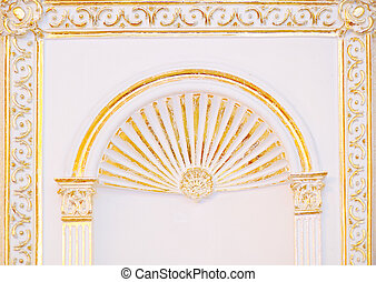 High detailed islamic art arch architectural concept