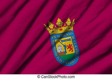 High detailed waving flag of Alava.
