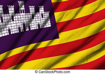 Balearic Islands - High detailed waving flag of Balearic...