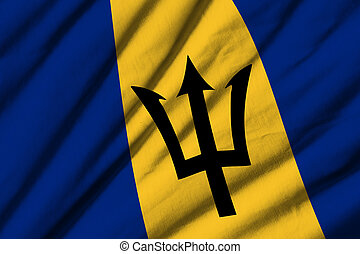 Barbados - High detailed waving flag of Barbados.