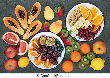 High Dietary Fiber Fruit Selection