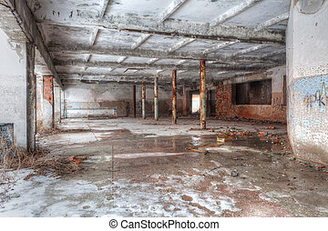 High Dynamic Range Image of an Abandoned building