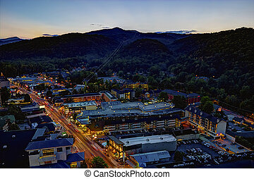 High Dynamic Range image of downtown Gatlinburg, Tennessee...