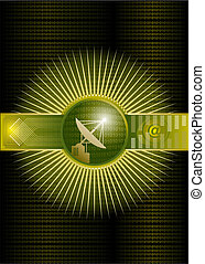 High-End Astronomy - Vector illustration of high-end ...