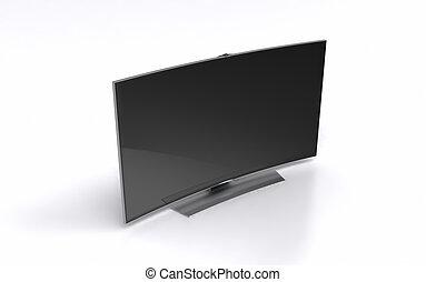 High-end curved smart led tv