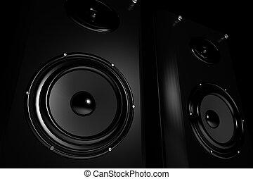 high-end, estéreo, oradores