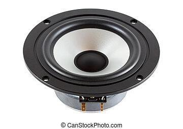 high-end, laag, mid-range, luidspreker