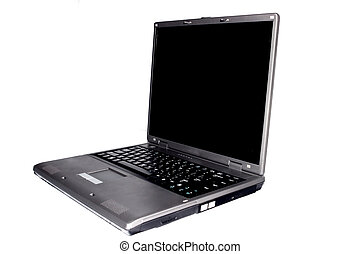 High-end laptop computer isolated on white background
