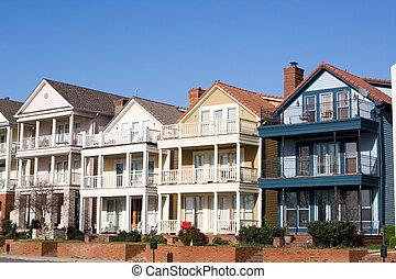 High End Townhouses, Mud Island, Memphis - High end...