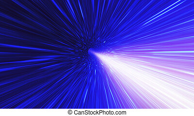 High energy particles traveling through space-time....