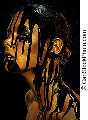 high-fashion golden skin
