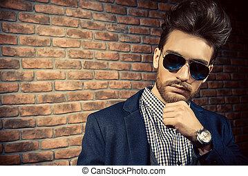 high fashion man - Portrait of a well-dressed imposing man...