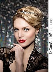 High-fashion Model Girl Beauty Woman high fashion Vogue...