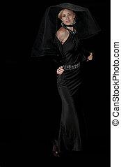 High Fashion Model in Evening Wear - High fashion model in...