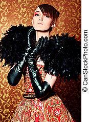 high fashion - Fashion shot of a beautiful model over...