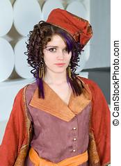High fashion - Young woman wearing a high fashion outfit.