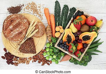 High Fibre Food for a Healthy Life - High fibre healthy food...