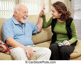 High Five for Grandpa