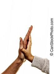 high five gesture, symbol for success, security, closeness,...