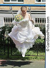 High flying bride