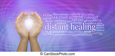 High Frequency Distant healing Word Tag Cloud