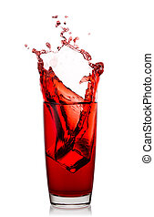 High glass with splash of natural cherry juice