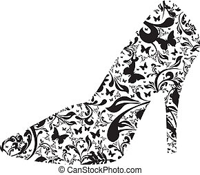 high heel - floral high heel