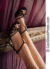 High heel fashion shoes