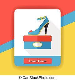 high heel flat icon