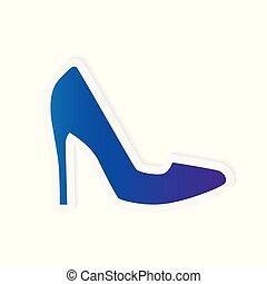 high heel shoe icon- vector illustration