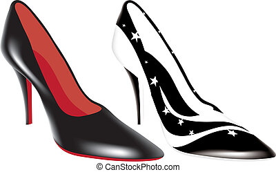 high heel shoes of different colors
