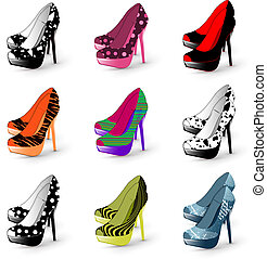 high heel woman shoes - Illustration of fashion high heel...