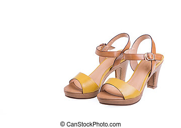 high-heeled female shoes - Pair of high-heeled female shoes