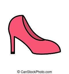 high heeled shoe on white background vector illustration