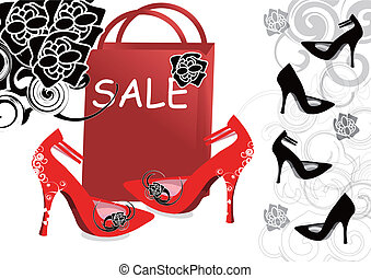 High-heeled shoes sale