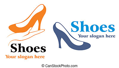 High heels - Design symbol for shoes industry on white