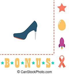 high heels computer symbol - high heels Simple vector...