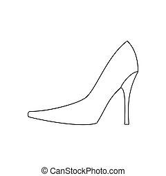 High heels illustration. Shoes illustration. Shoes icon....