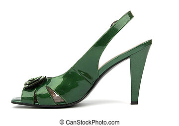 High Heels Shoe - Green High Heels Shoe isolated on white...