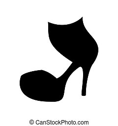 High heels shoes illustration. Woman shoes. Vector...