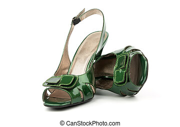High Heels Shoes - Green High Heels Shoes isolated on white...