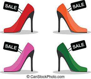 High Heels Shoes - EPS 10 Vector Illustration of High Heels...