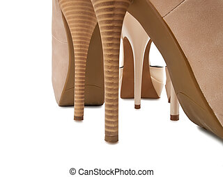 High heels - high heels, isolated on white background