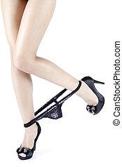high heels, vrouw, benen, vrouwlijk