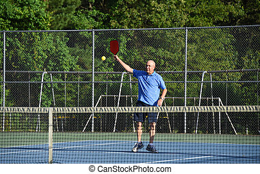 High Hit in Pickle Ball