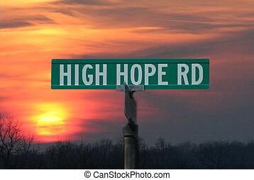 High Hope Street Sign