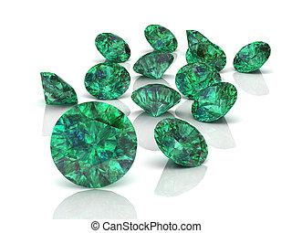 (high, image), smaragd, auflösung, 3d